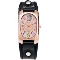Fashion Men and Women Personality Digital Pointer Leather Belt Watch
