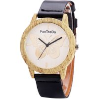 Unique Women Youth Style PU Leather Strap Wristwatch